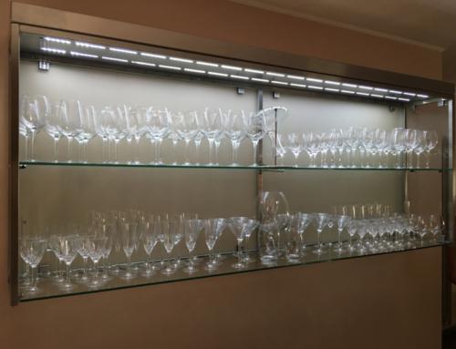 Porta bicchieri in acciaio INOX